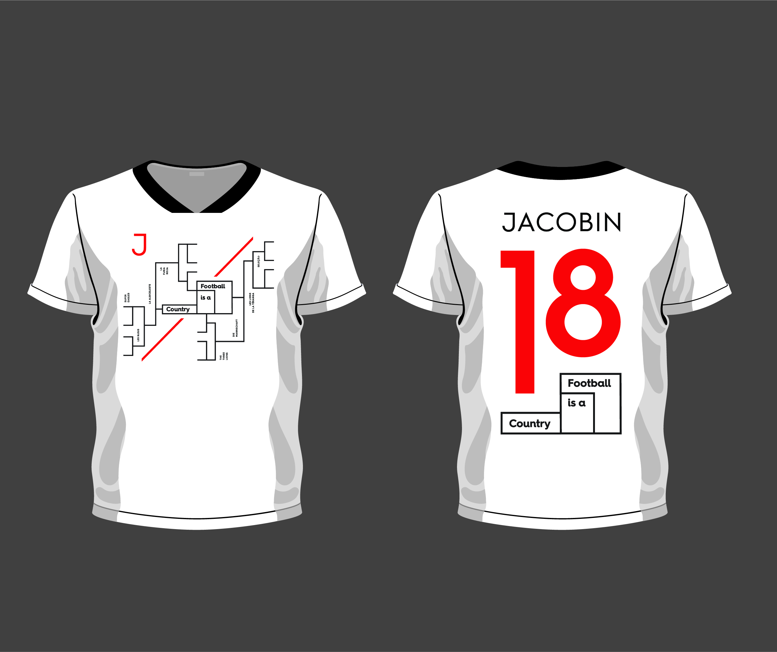 Jacobin / Football Is a Country Jersey
